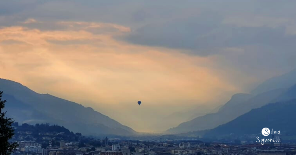 Aosta al tramonto